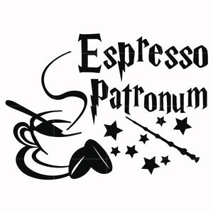 Espresso patronum svg, harry potter svg, potter svg for cut, svg, dxf, eps, png digital file
