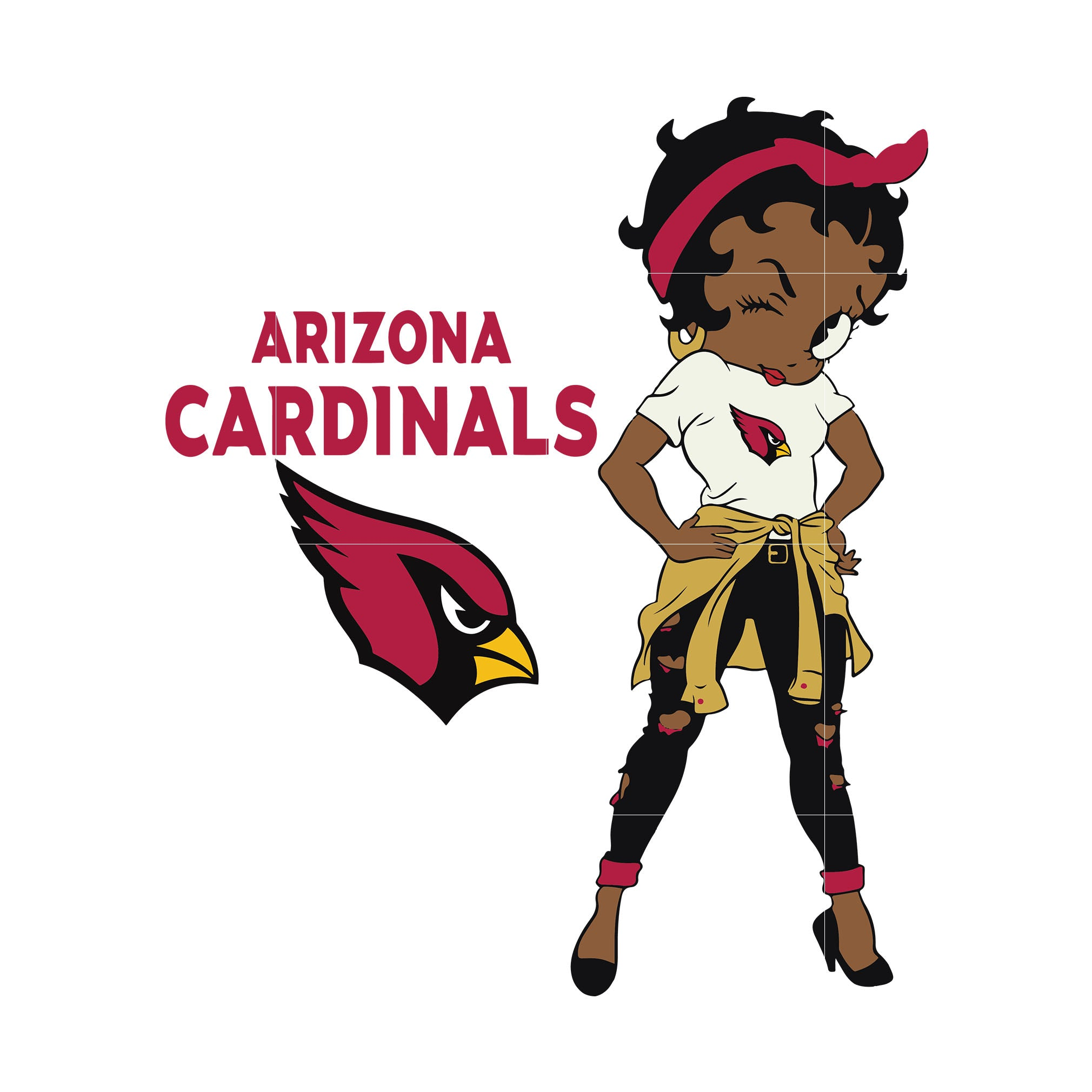 Betty boop Arizona Cardinals,  Arizona Cardinals svg, png, dxf, eps. INSTANT DOWNLOAD