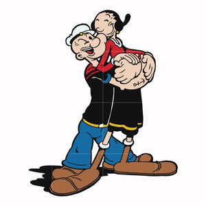 Popeye and olive svg, popeye tv show svg ,dxf, eps, png digital file