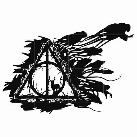 Harry potter deathy hallows shadowhunter svg, harry potter svg, potter svg for cut, svg, dxf, eps, png digital file