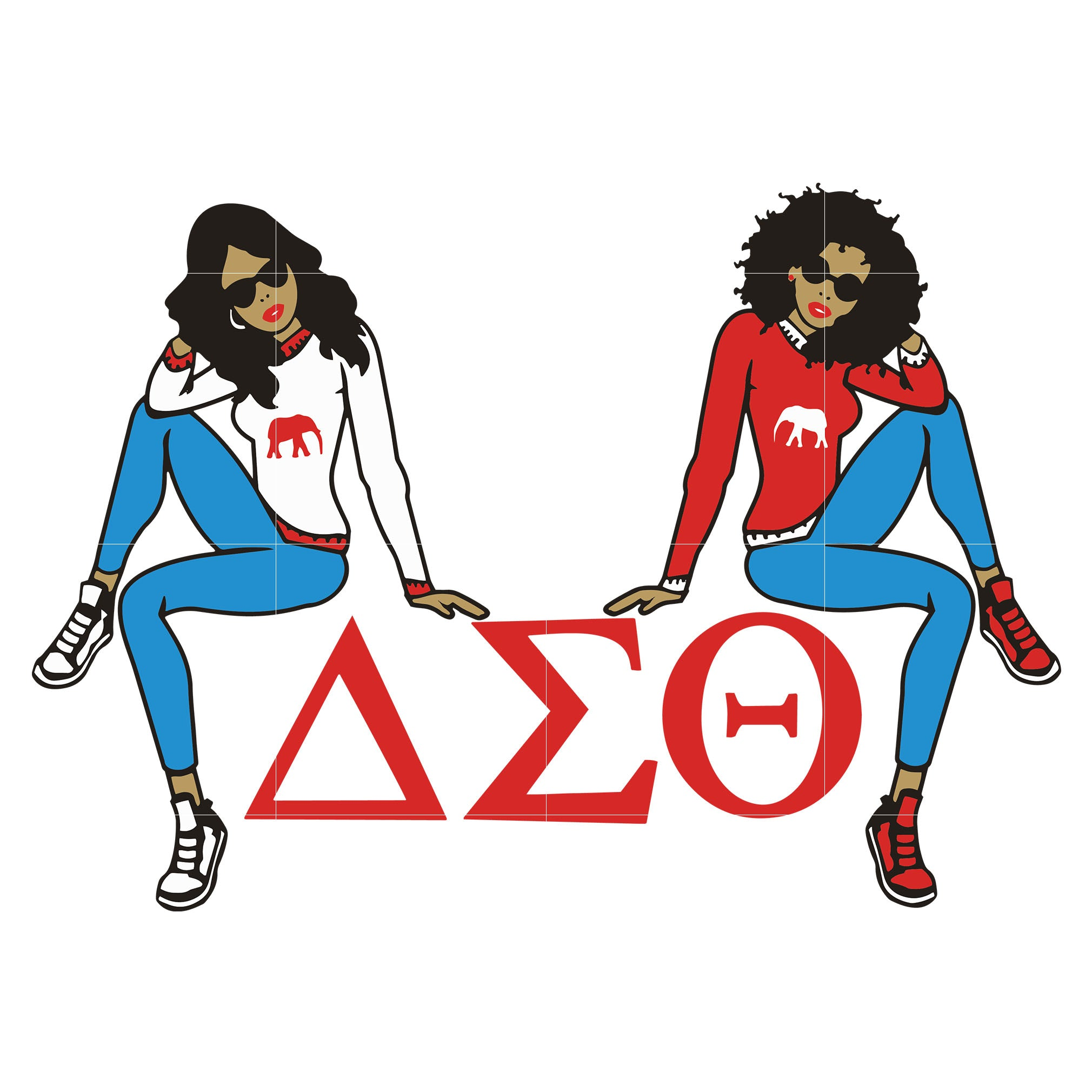 Delta Sigma Theta svg, Afro Woman Svg, African American Woman svg, dxf, eps, png digital file