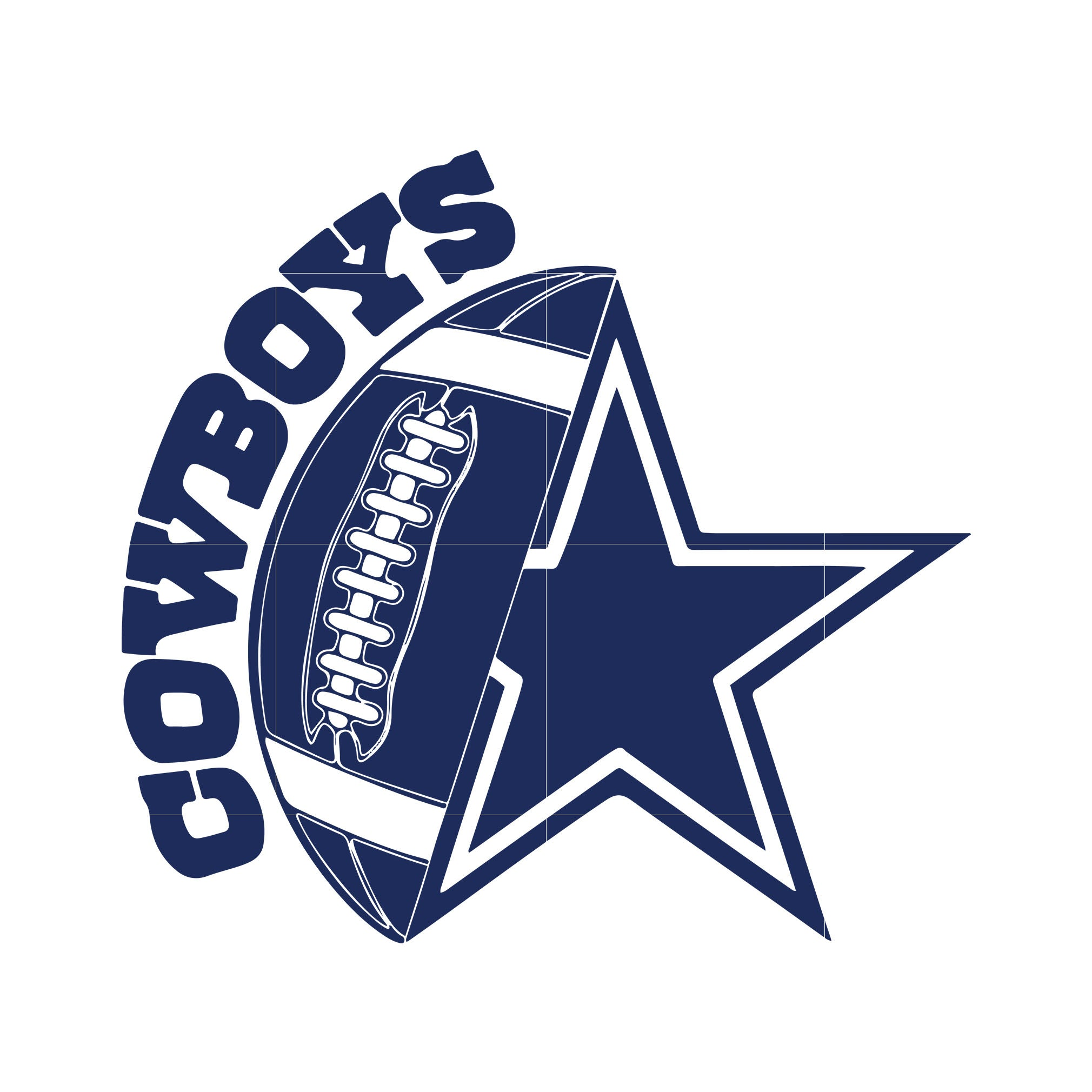 Cowboys ball and star svg, dallas cowboys svg, cowboys svg for cut