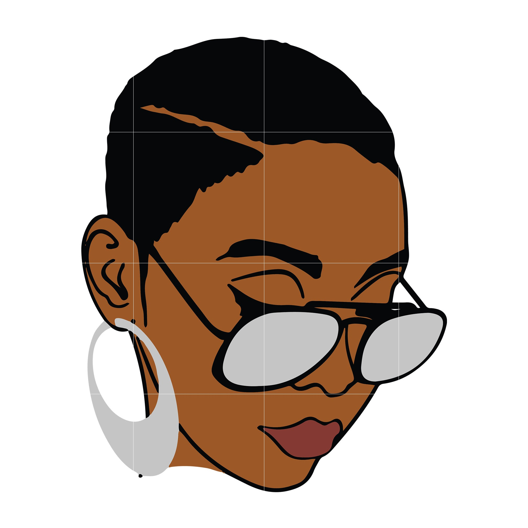 Black Woman with glasses Svg, Afro Woman Svg, African American Woman svg ,dxf, eps, png digital file