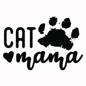 Cat mama svg, mother day svg, dxf, eps, png digital file