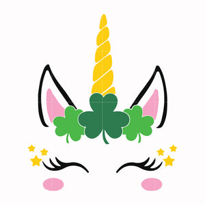Shamrock unicorn svg, shamrock svg, st patrick day svg, leprechaun svg, patrick svg, leprechaun svg, dxf, eps, png digital file