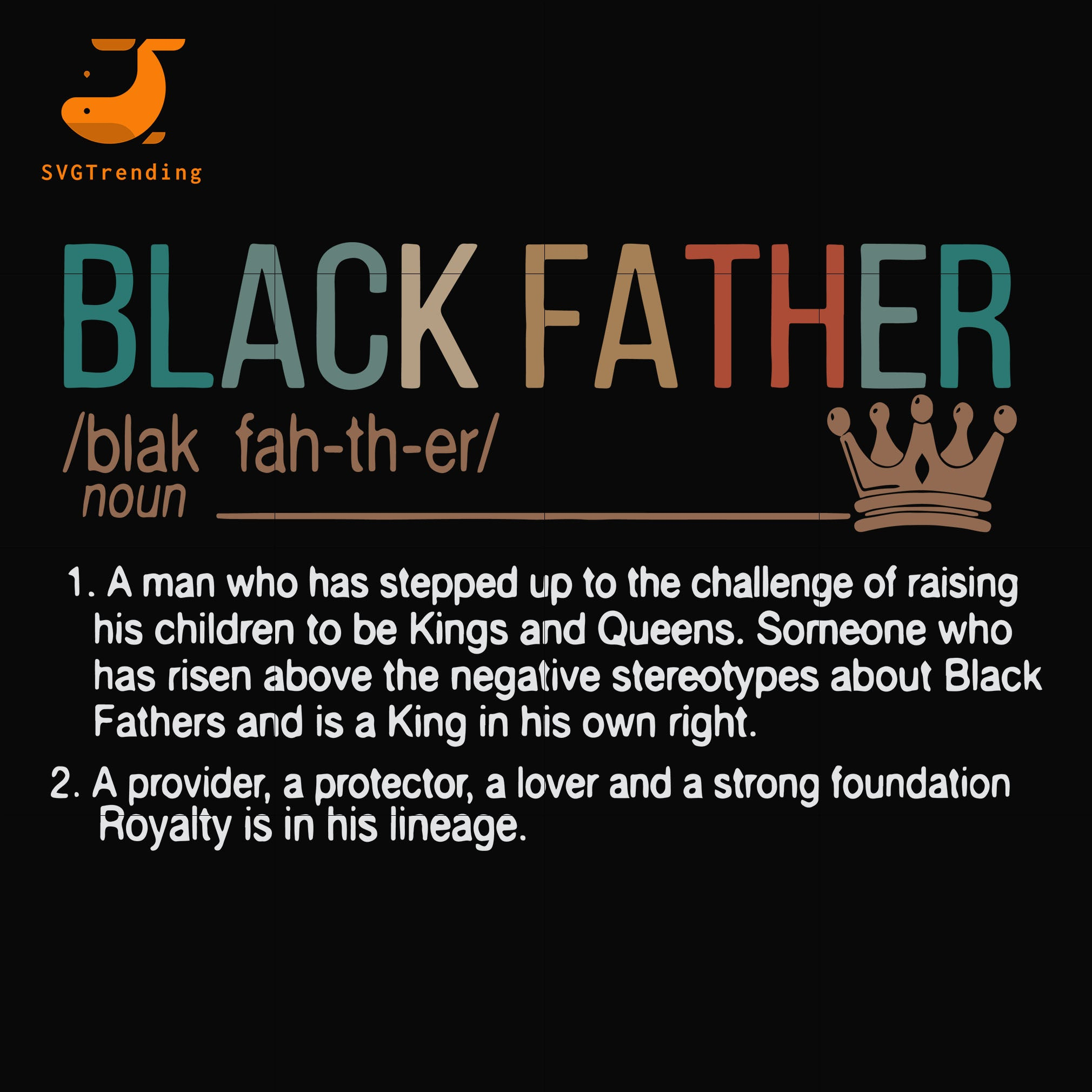 black father svg, png, dxf, eps, digital file FTD11