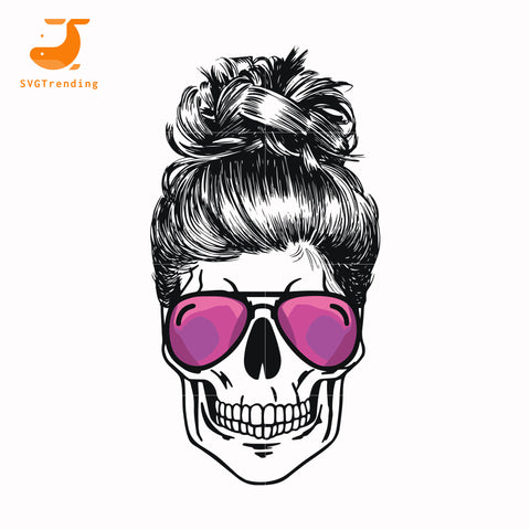 Mom skull glasses svg ,dxf,eps,png digital file