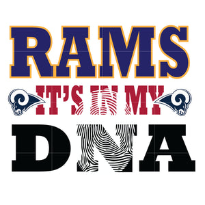Rams it's in my DNA svg, rams svg, rams svg for cut