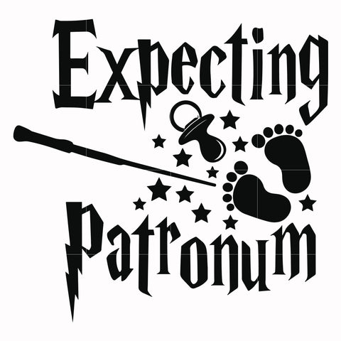 Expecting patronum svg, harry potter svg, potter svg for cut, svg, dxf, eps, png digital file