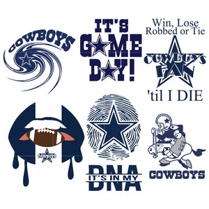 Dallas Cowboys - svg - png - pdf - eps - dxf vector files for Silhouette Cameo, Cricut, clipart bundle for DIY gifts, party, birthday, shirt