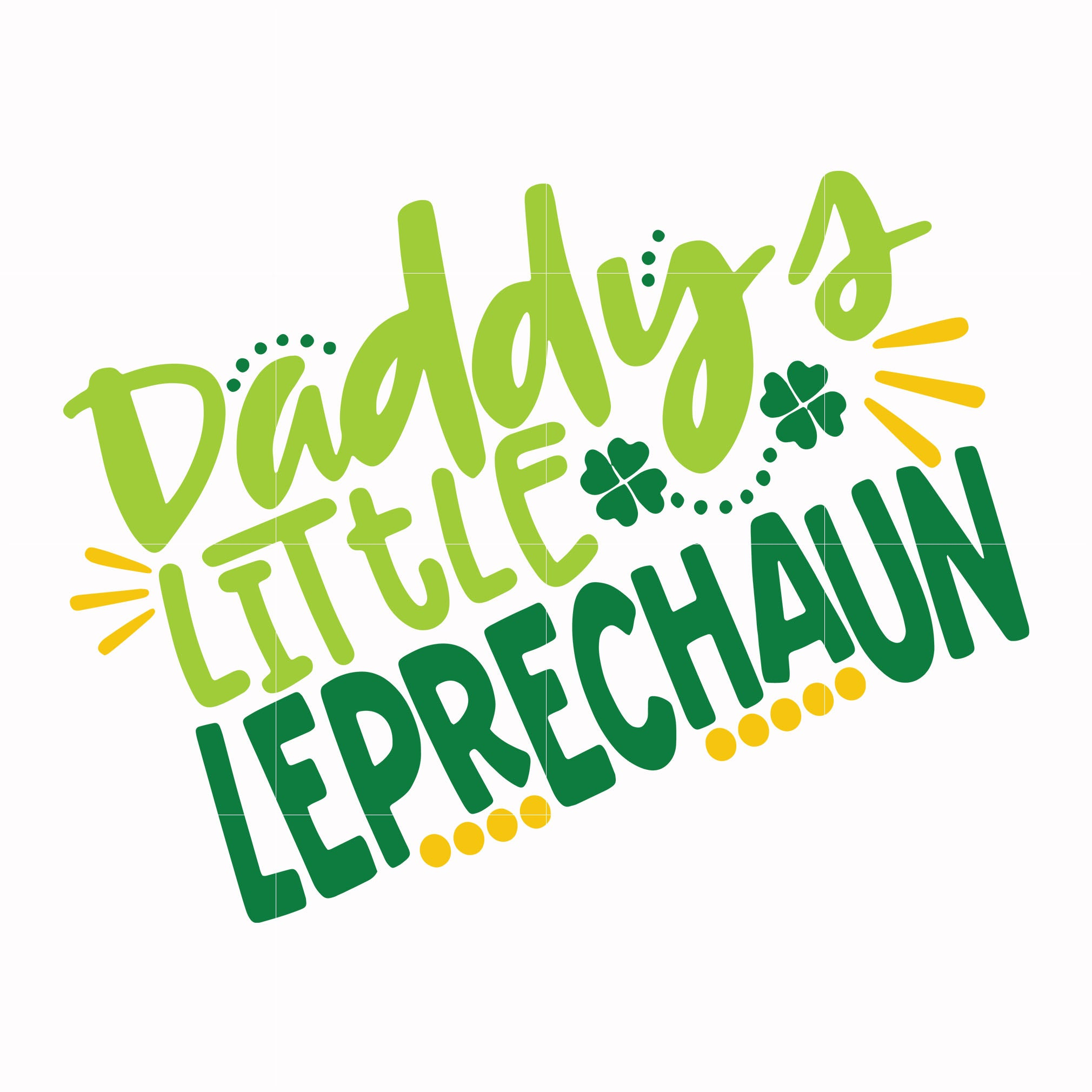 Daddys little leprechaun svg, shamrock svg, st patrick day svg, leprechaun svg, patrick svg, leprechaun svg, dxf, eps, png digital file