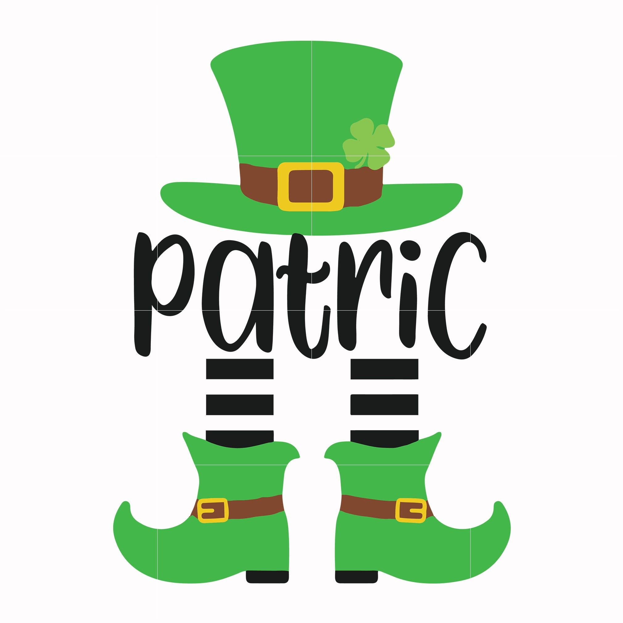 Patric leprechaun svg, shamrock svg, st patrick day svg, leprechaun svg, patrick svg, leprechaun svg, dxf, eps, png digital file