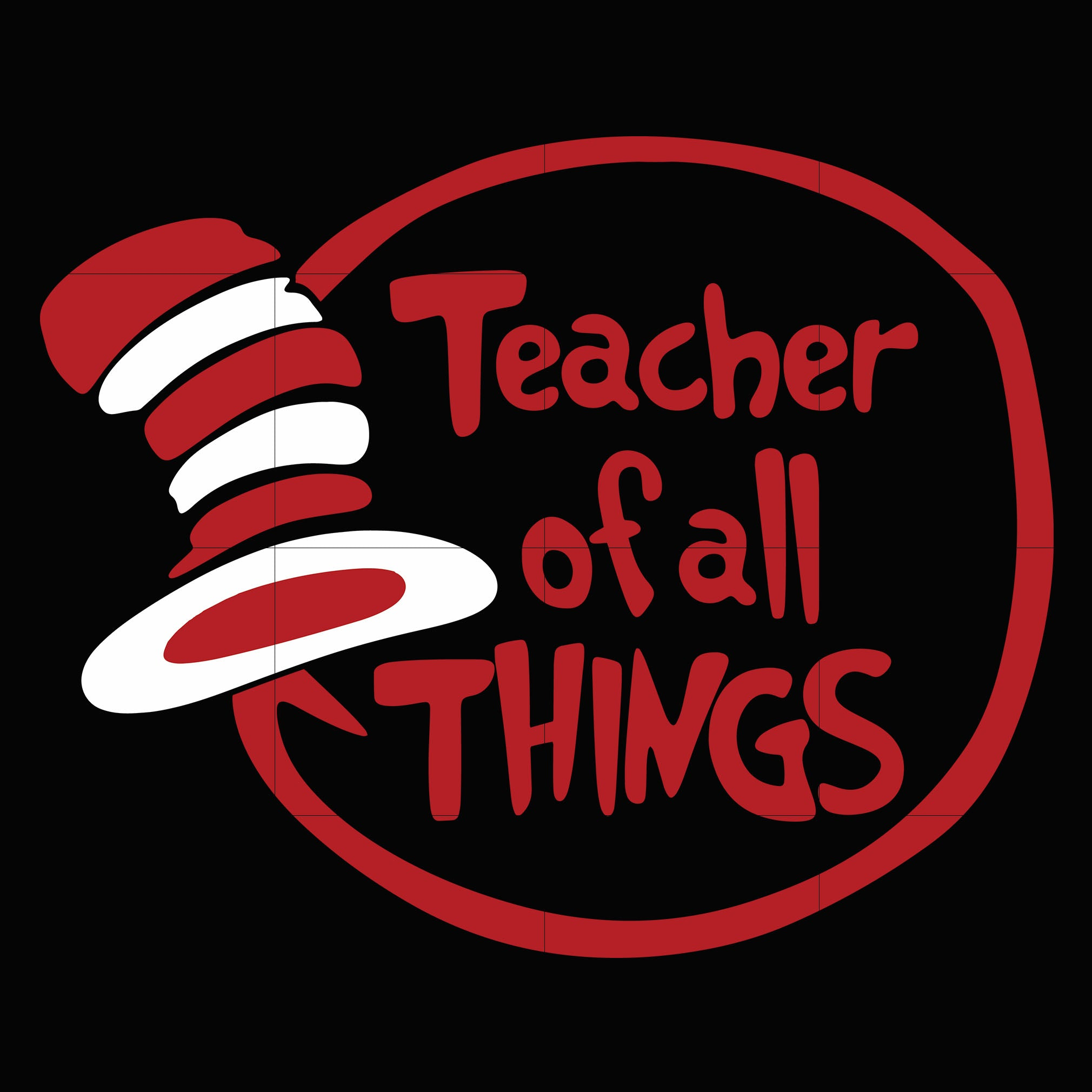 Teacher of all things, dr seuss svg, dr seuss quotes digital file