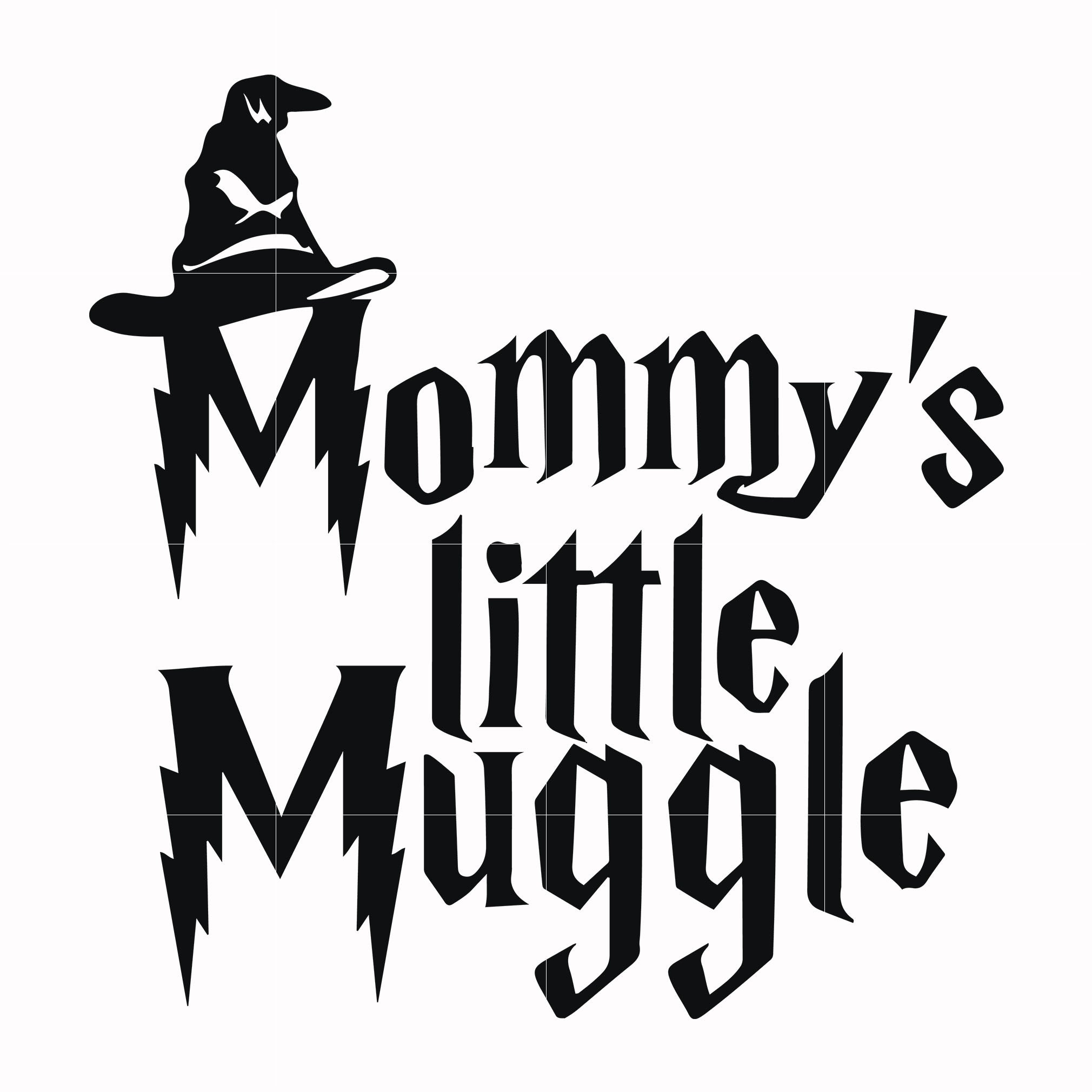 Mommy's little muggle svg, potter svg for cut, svg, dxf, eps, png digital file