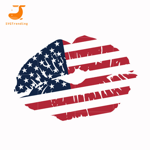 Lip american svg, png, dxf, eps, digital file