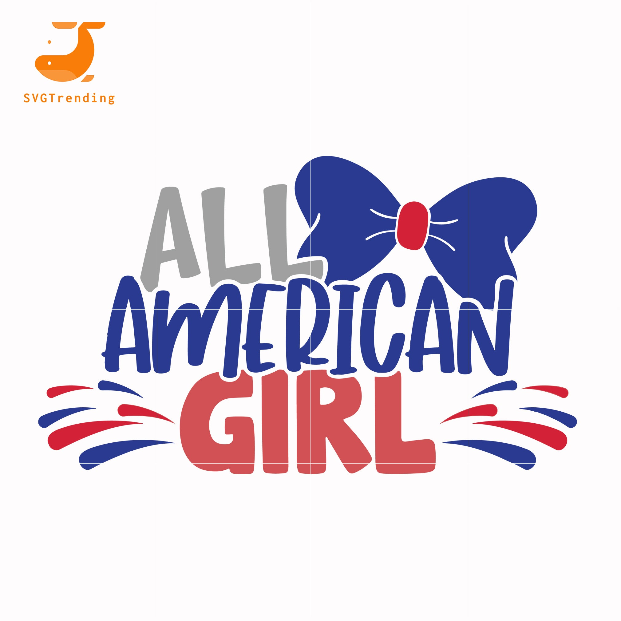 All american girl svg, png, dxf, eps, digital file