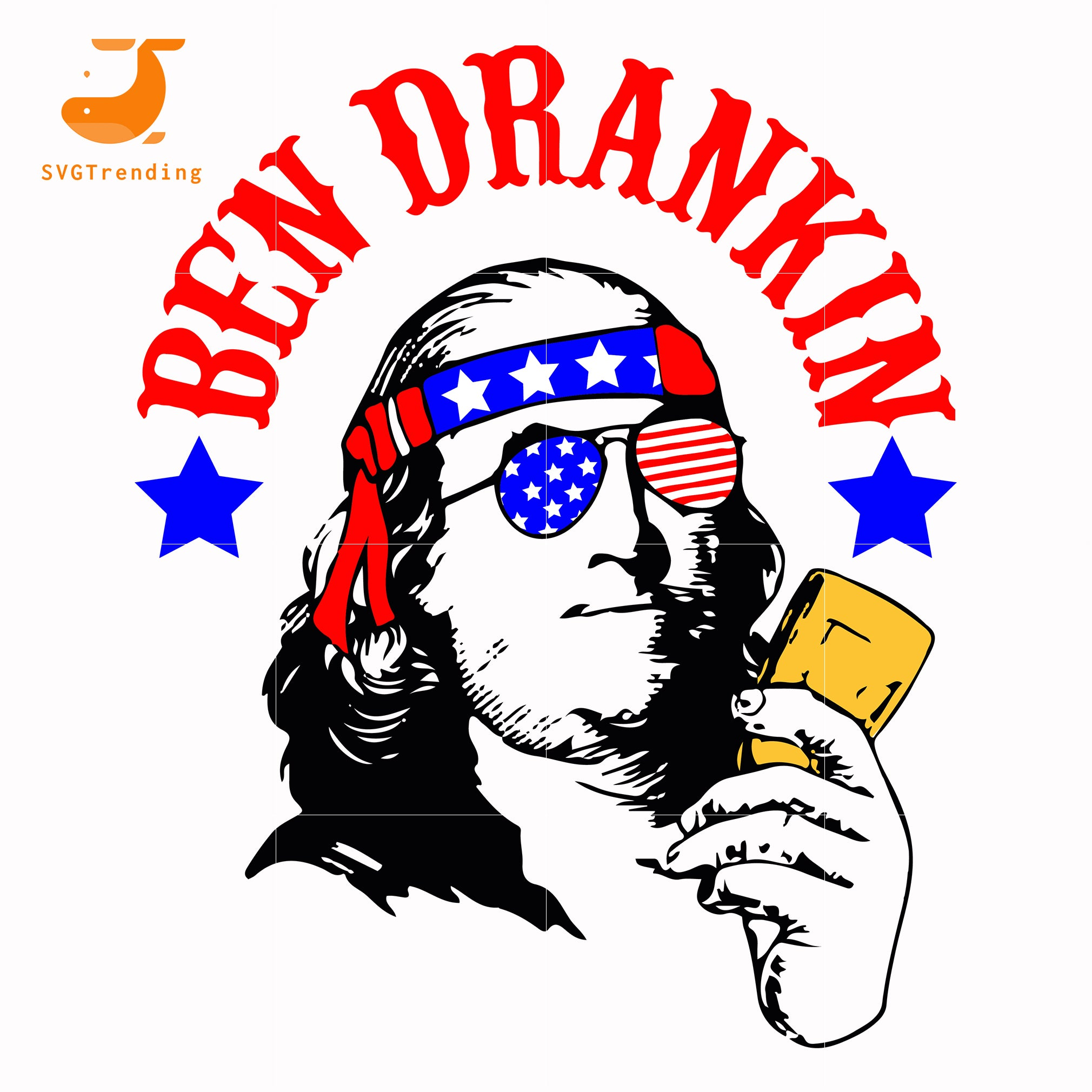 ben drankin american svg, png, dxf, eps, digital file JULY0022