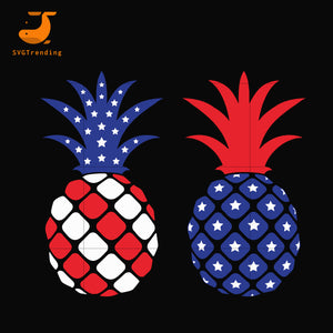 Pineapple american svg, png, dxf, eps, digital file