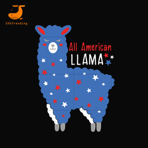 All american llama svg, png, dxf, eps, digital file