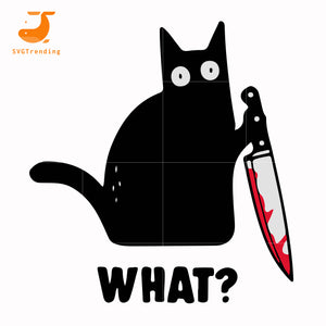 cat with knife svg, png, dxf, eps digital file HLW0108