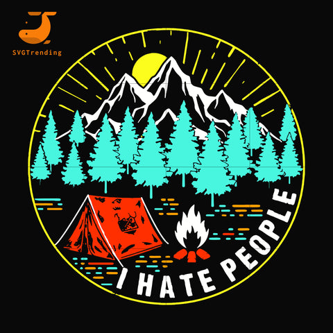 I hate people svg, png, dxf, eps digital file CMP044