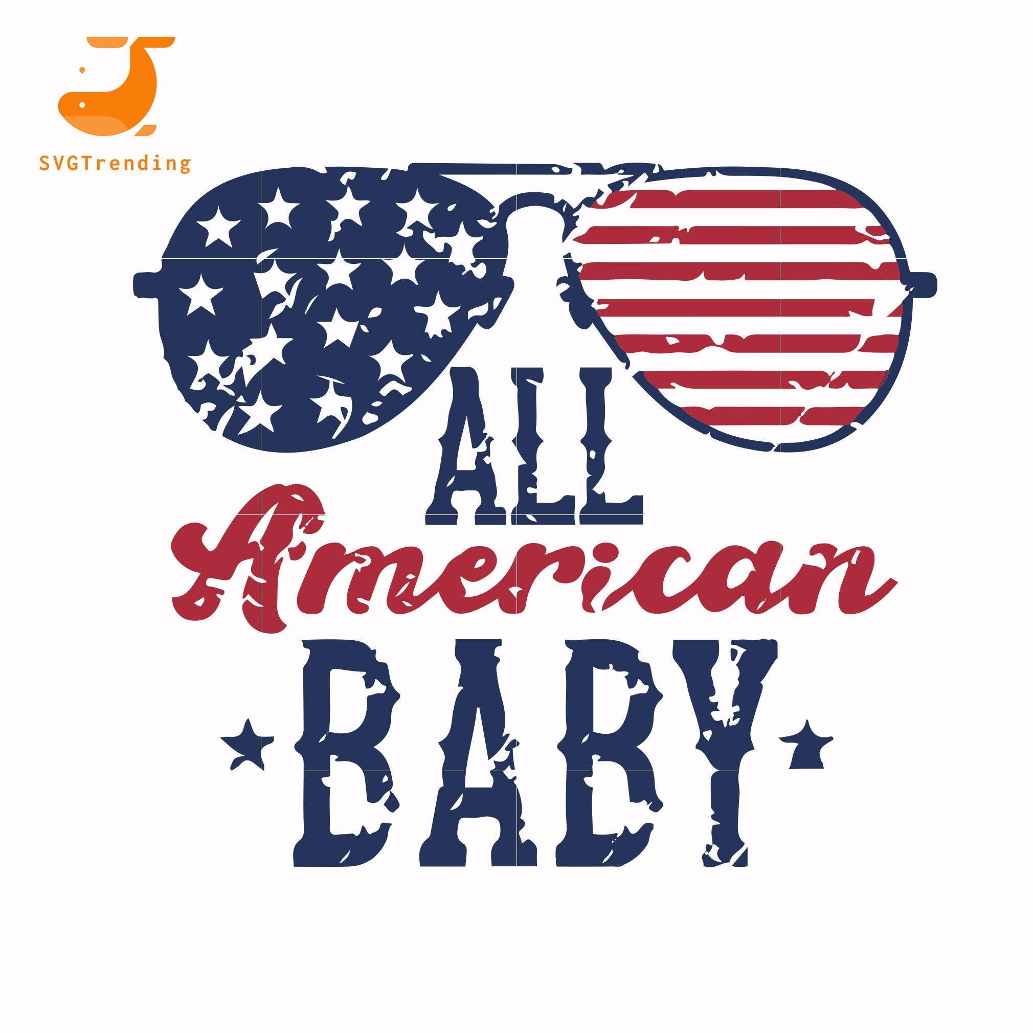 all american baby svg, png, dxf, eps, digital file JULY0006
