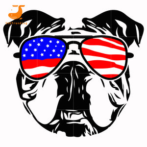 french bulldog america svg, png, dxf, eps, digital file