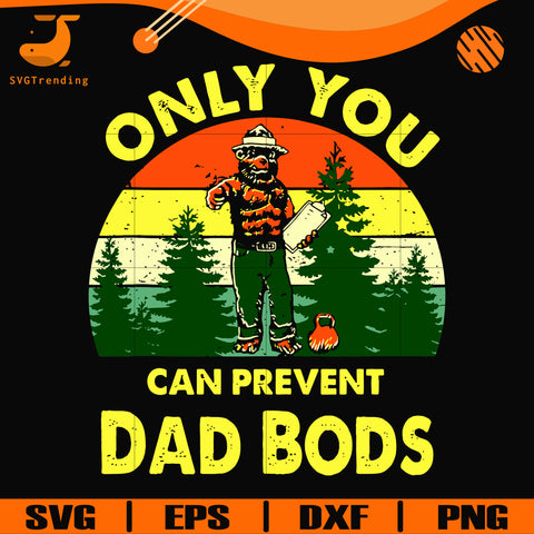 Only you can prevent dad bods svg, png, dxf, eps digital file CMP0102