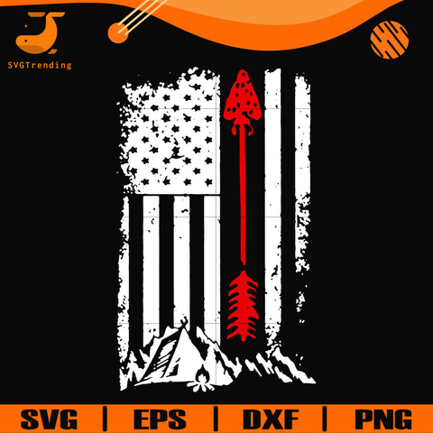 American flag with arrow svg, png, dxf, eps digital file CMP0117