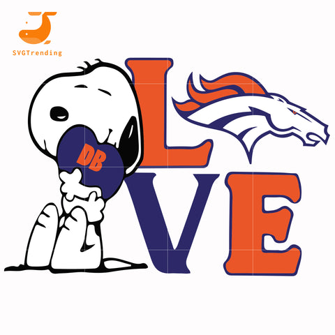 snoopy love Denver Broncos svg, png, dxf, eps digital file TD10