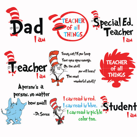 Dr seuss bundle svg, dr seuss svg, dr seuss quotes, digital file