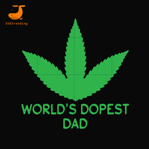 World's dopest dad svg, png, dxf, eps, digital file FTD126