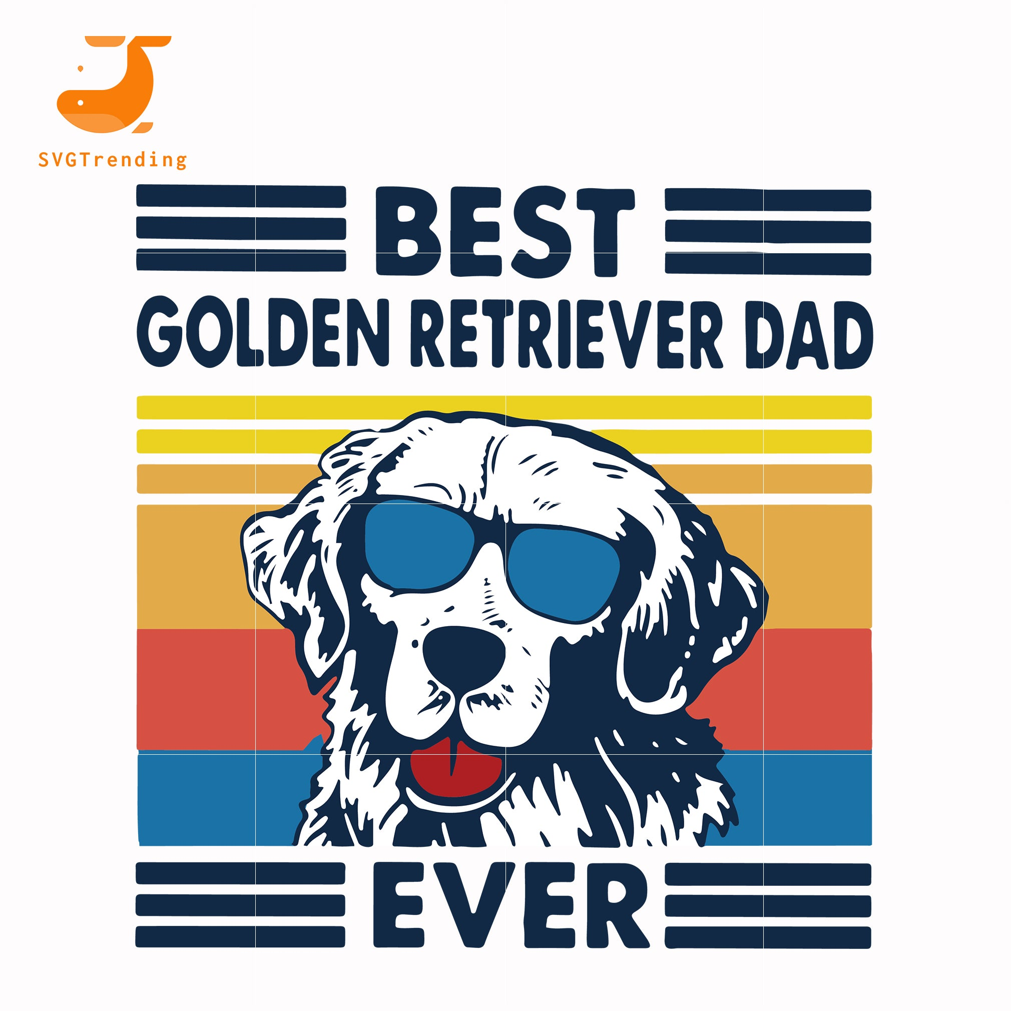 Best golden retriever dad ever svg, png, dxf, eps, digital file FTD30
