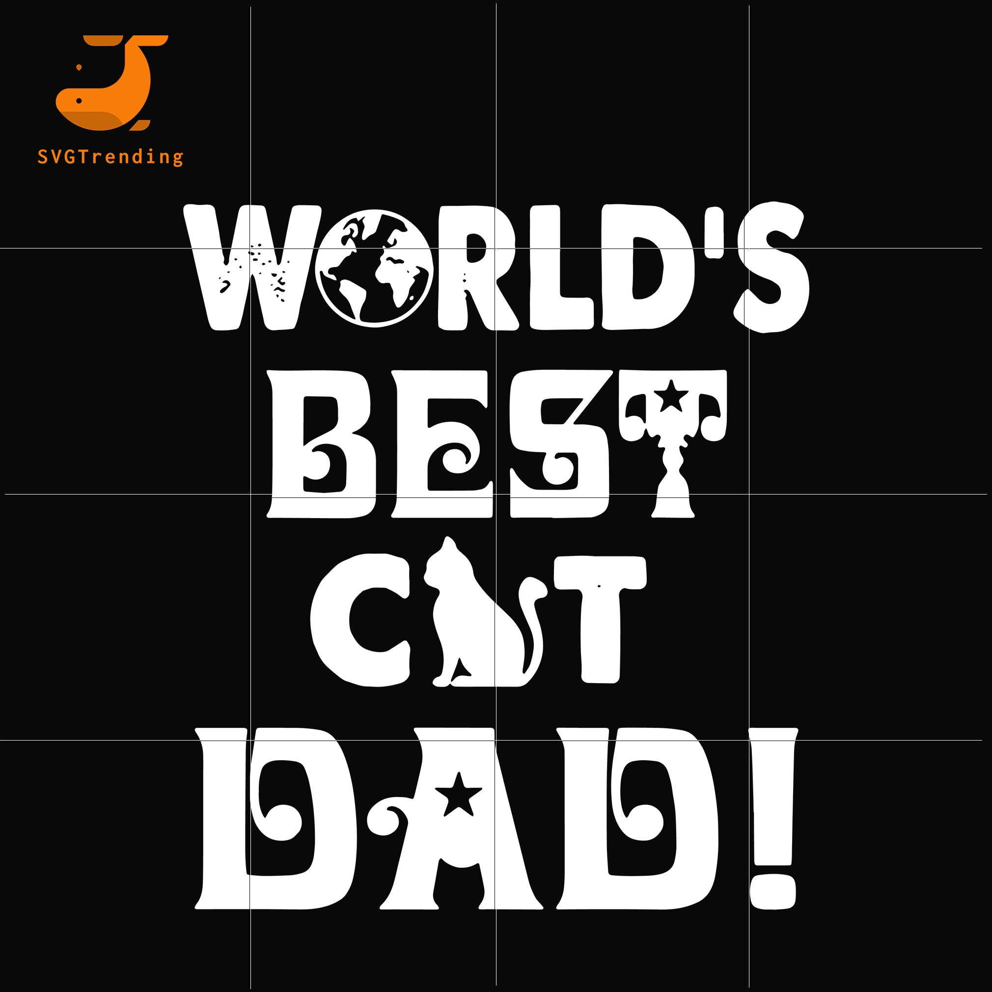 World's best cat dad svg, png, dxf, eps, digital file FTD43