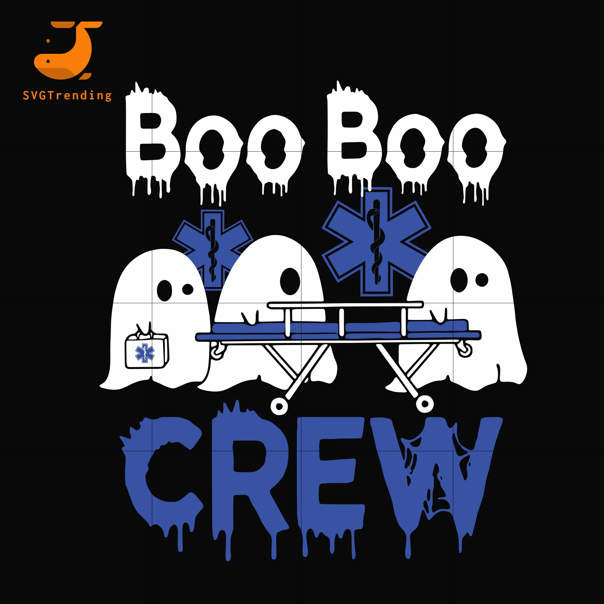 Boo boo crew svg, png, dxf, eps digital file HLW0092