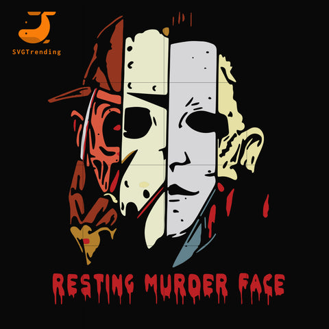 Resting murder face svg, png, dxf, eps digital file HLW0161