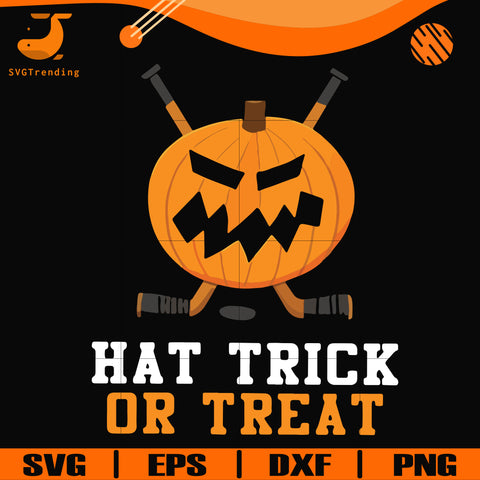 Hat trick or treat svg, halloween svg, png, dxf, eps digital file HLW1707207