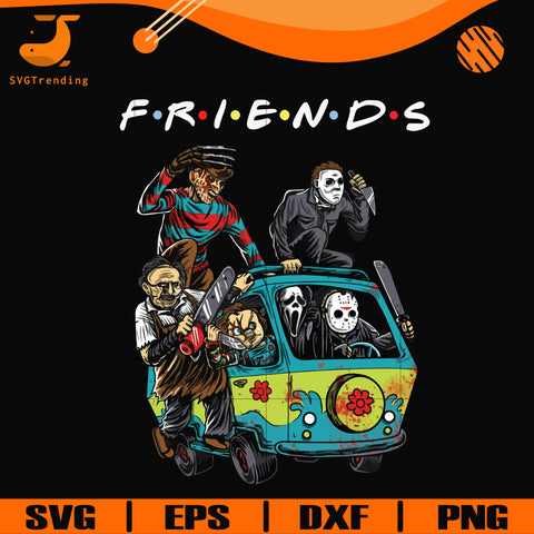 Scary Friends Horror svg, Halloween svg, png, dxf, eps digital file HLW2307202