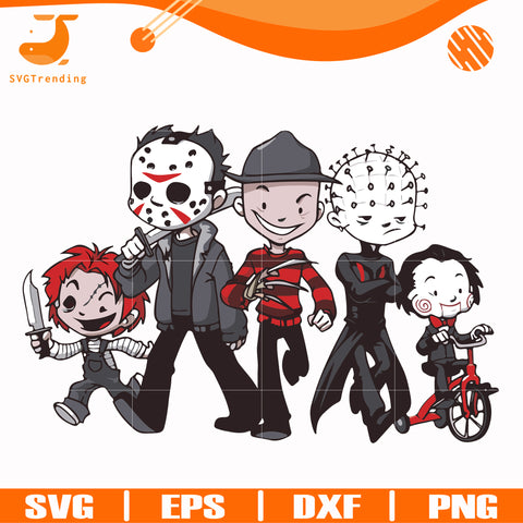 Scary Friends Horror svg, Halloween svg, png, dxf, eps digital file HLW2307205