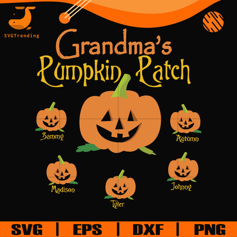 Grandma's Pumpkin Path svg, halloween svg, png, dxf, eps digital file HWL22072040
