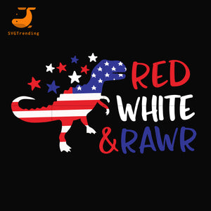 Red white & rawr svg, png, dxf, eps, digital file JULY0032