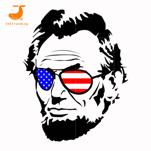 lincoln america svg, png, dxf, eps, digital file JULY0058