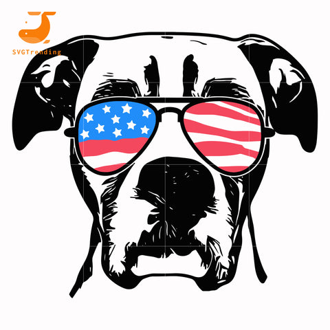 Boxer american svg, png, dxf, eps, digital file JULY0059