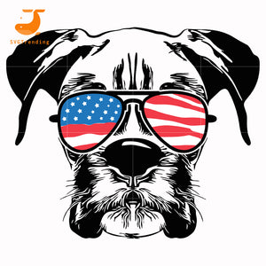 Schnauzers america svg, png, dxf, eps, digital file