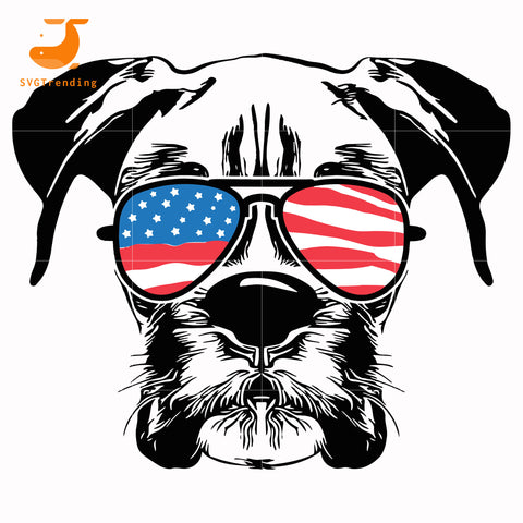 Schnauzers america svg, png, dxf, eps, digital file JULY0060