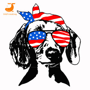 dachshund america svg, png, dxf, eps, digital file