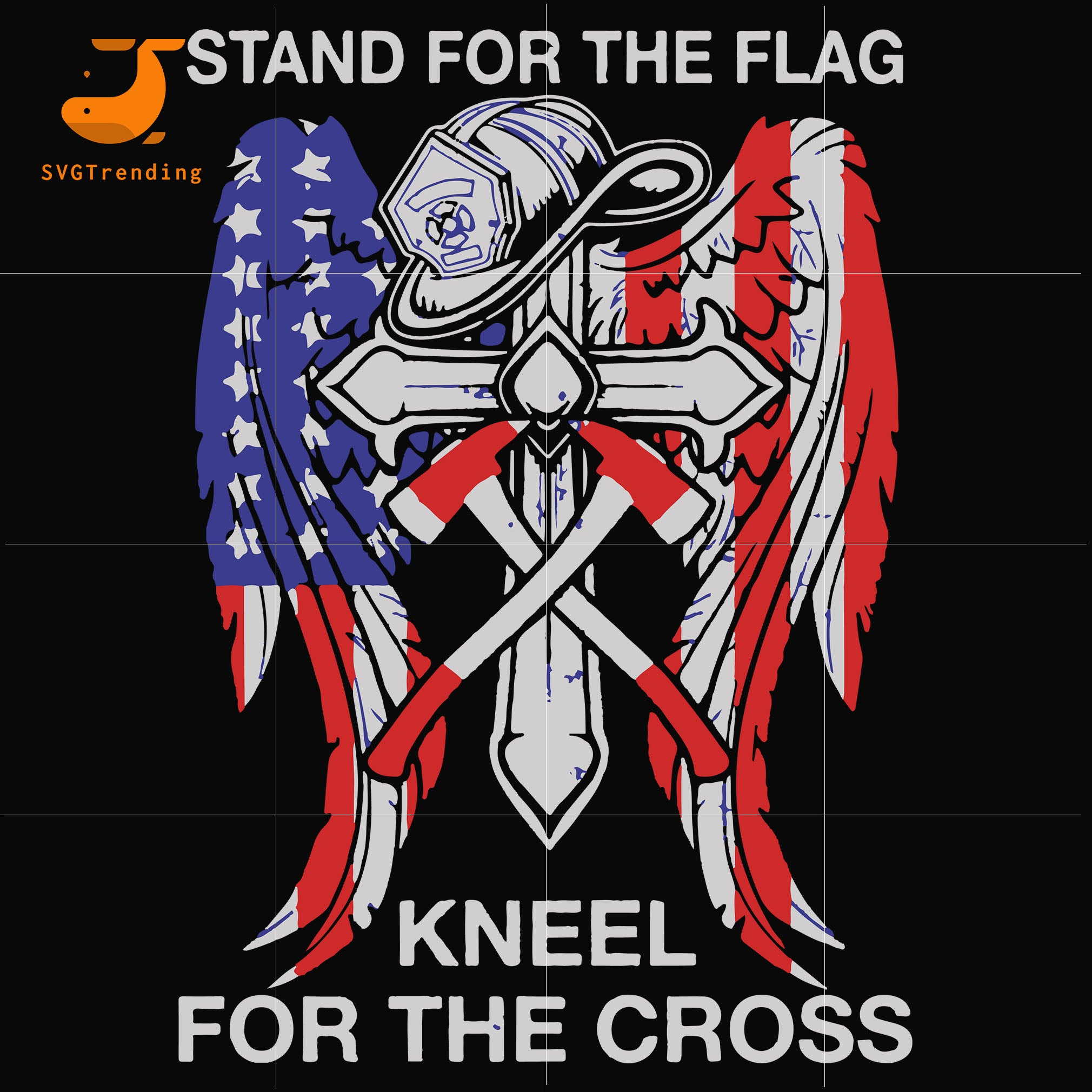 I Stand For The Flag, I Kneel For The Cross svg, png, dxf, eps, digital file