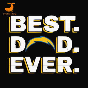 Best dad ever,Los Angeles Chargers NFL team svg, png, dxf, eps digital file FTD92
