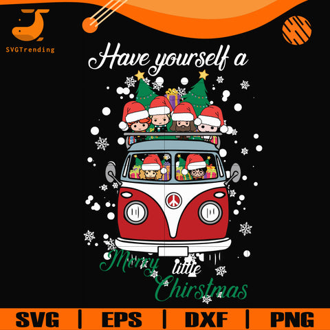 Have yourself a merry little christmas svg, harry potter svg, png, dxf, eps digital file NCRM0143