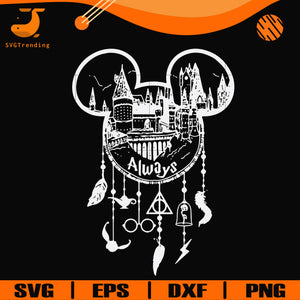 Harry Potter Always Mickey Mouse dream catcher svg, png, dxf, eps digital file NCRM14072018